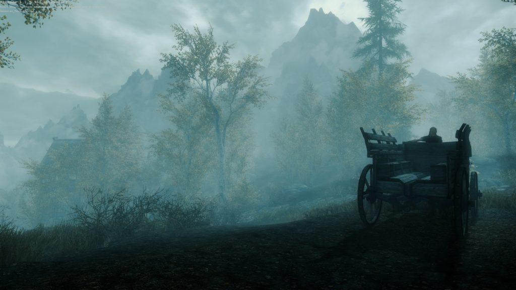 Повозка на конюшне Рифтена