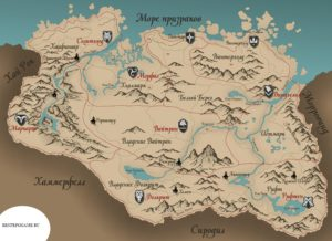 Карта Скайрима на русском языке