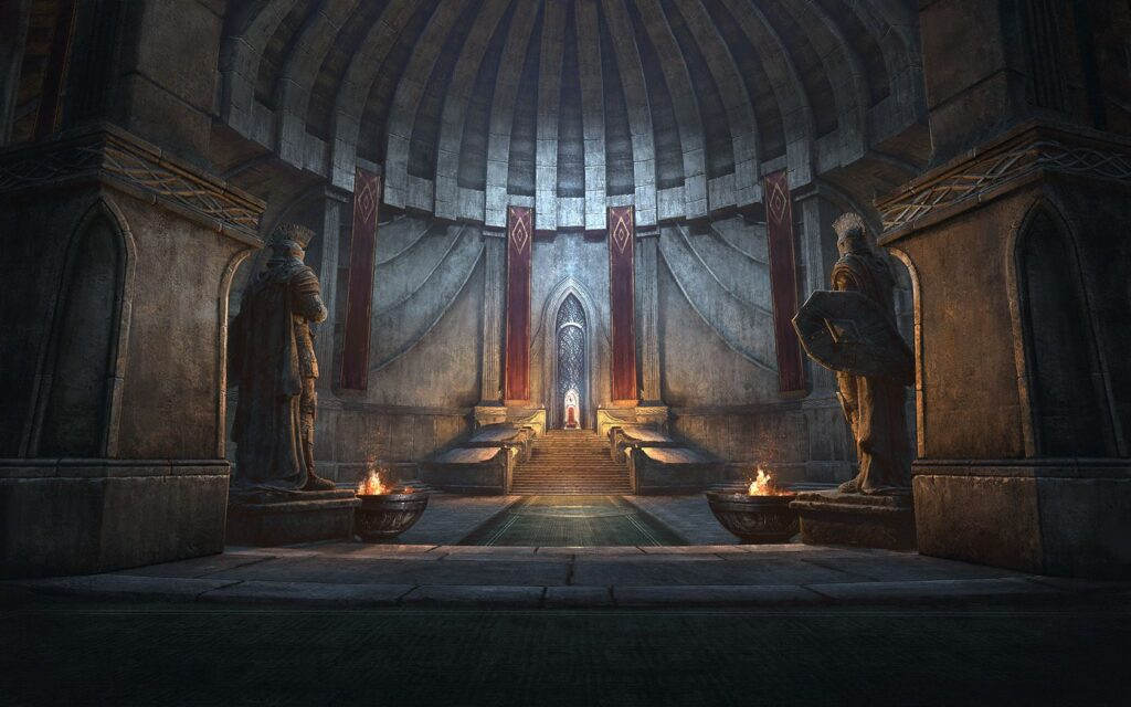White-Gold Tower throne room concept art